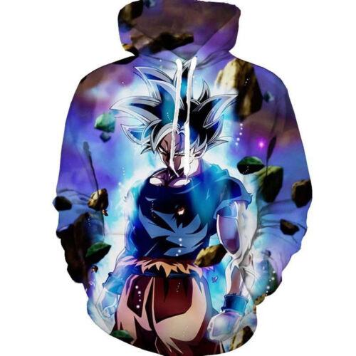 Dragon Ball Z Pullover Sweatshirts Son Goku Vegeta 3D Hoodie Outwear Sweater Top