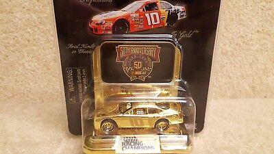 New 1998 Racing Champions 1:64 NASCAR 24K Gold Ricky Rudd Tide Ford Taurus #10