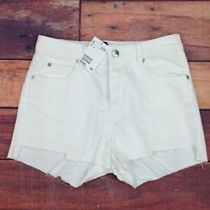h and m white shorts
