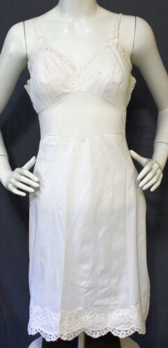 Vintage Shadowline White Full Slip Size 34