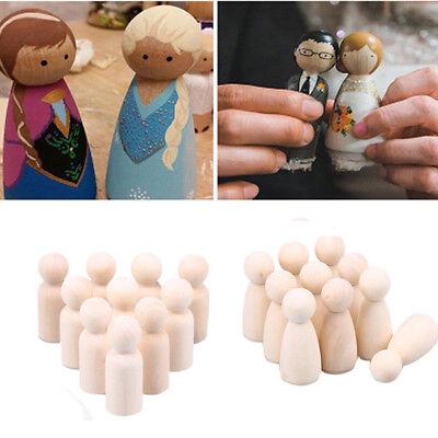 40pcs 43cm Female Male Wooden People Bodies Peg Doll Wedding Cake Topper DIY