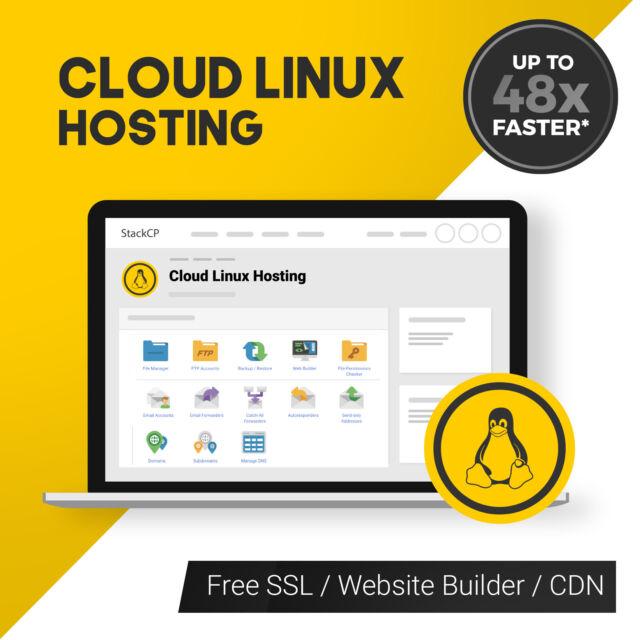 12 Months Unlimited Website Web Hosting StackCP Linux WordPress UK Hosting