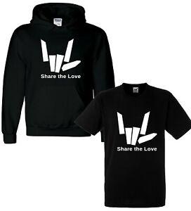 Share-The-Youtuber-Love-Girls-Boys-Kids-Youth-Hoodie-Hoody-T-shirt-Tee-Top-Black