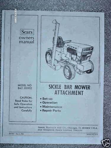 Sickle Bar Mower Repair