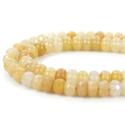 """natural gemstone 4x6//5x8mm faceted smooth rondelle spacer beads strand 15/""""-15.5/"""""""