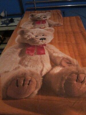Bär Sinnvoll 2 Tlg Kinderbettwäsche Feinbiber Teddybär Bed Linen Verpackung Der Nominierten Marke Kinder Bettwäsche