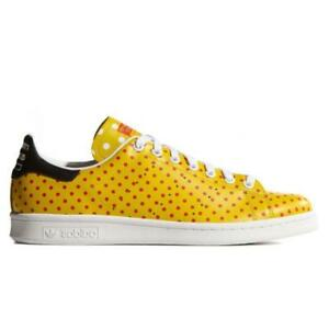 48f8122ba0df2 Mens ADIDAS PW STAN SMITH SPD Yellow Leather Casual Trainers B25402 ...