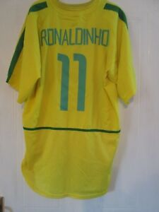 WC Ronaldinho Brazil 2002 Home Football Shirt Size xl 43930 - Bridlington, United Kingdom - WC Ronaldinho Brazil 2002 Home Football Shirt Size xl 43930 - Bridlington, United Kingdom