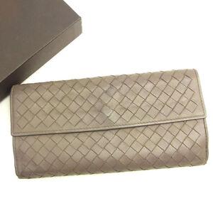 6c8e53bc0df5 Image is loading Bottega-Veneta-Wallet-Purse-Intrecciato-Brown-Woman-unisex-