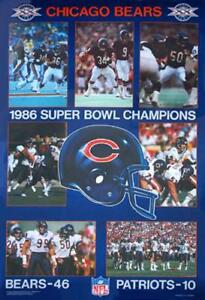 c19862513 Image is loading Chicago-Bears-SUPER-BOWL-XX-CHAMPIONS-1986-Vintage-