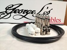 George L's 155 Guitar Pedal Cable Kit .155 Black / White / Nickel - 10/10/5