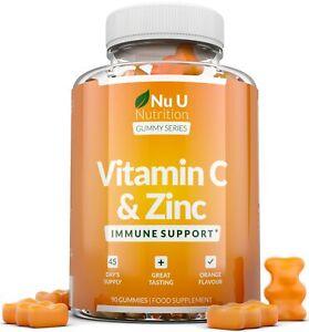 Vitamin C and Zinc 90 Gummies Immune Support Vitamin C as Ascorbic Acid