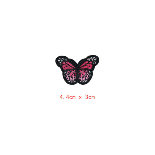20x Butterfly Iron on Patches Embroidery Applique Patches for Art Crafts Decor
