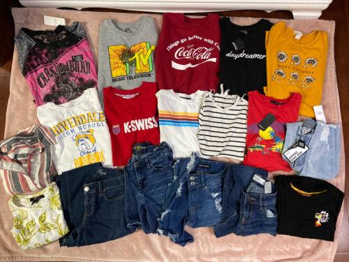 Junior Girls sz-small- X SM-00 Jeans- Crop-Tops- V