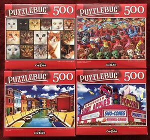 "LOT OF 4 CraZArt 300 Pcs Jigsaw Puzzles PuzzleBug Series 18.25/"" x 11/"" Free Ship"
