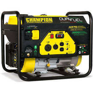 Champion 100307 4,375-W Portable Hybrid RV Ready Dual Fuel Gas Powered Generator