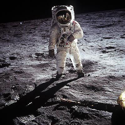 POSTER A3 NASA Buzz Aldrin on the Moon Astronaut Buzz Aldrin lunar module pilot