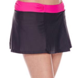 Free Country Size M swim shorts Gray pink swim skirt bottoms New running