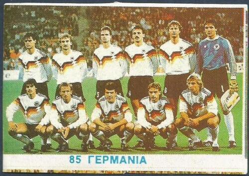 #085-GERMANY TEAM PHOTO AGASTA GREEK ISSUE-ITALIA 1990