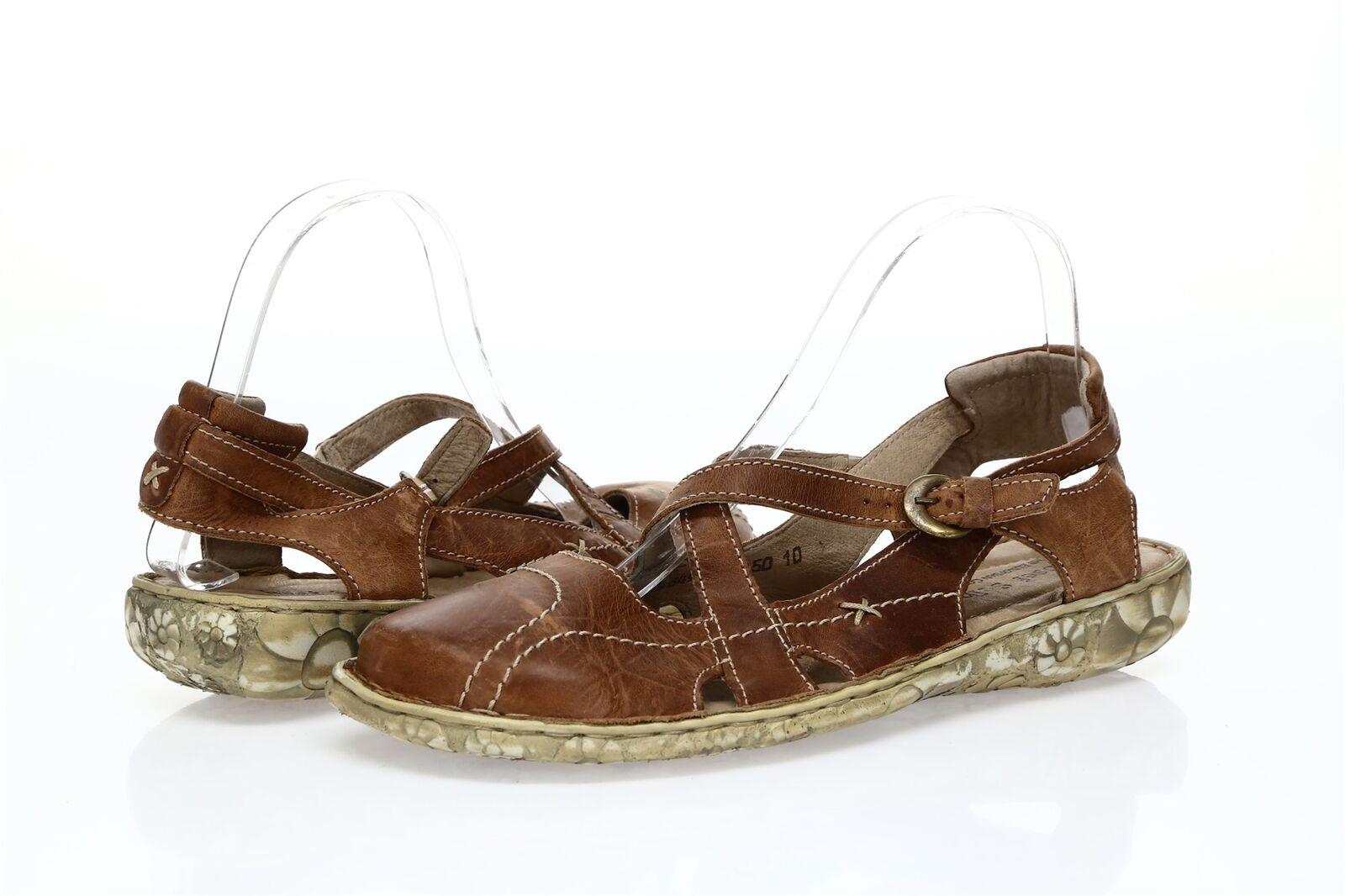 femmes JOSEF SEIBEL marron Leather Sandals Sz. 42 EU