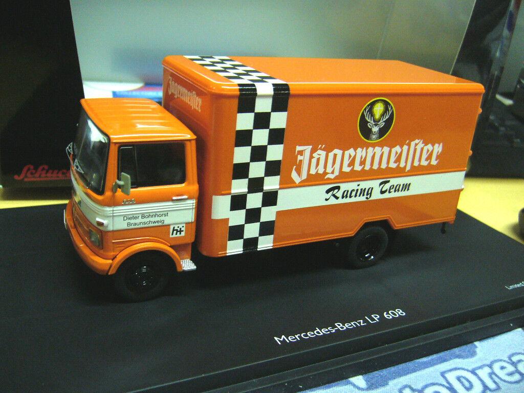 MERCEDES Benz lp608 608 LP Jägermeister Racing Team Camion Schuco 1:43