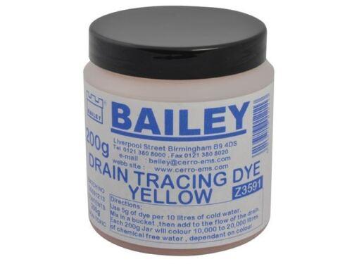 Bailey 3591 Drain Tracing Dye Yellow