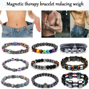 Magnetic Healing Bracelet Hematite Tiger Eye Stone Pain Relief Weight Loss Gifts