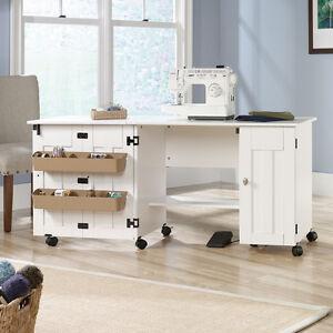 ... Maquina-De-Coser-Mesa-Gabinete-Craft-almacenamiento-Escritorio- & Sewing Machine Table Cabinet Craft Storage Desk Dresser Drop Leaf ...
