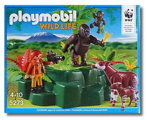 Dschungel WWF-Zoologin bei Okapis und Gorillas NEU und OVP Playmobil Wild Life 5273