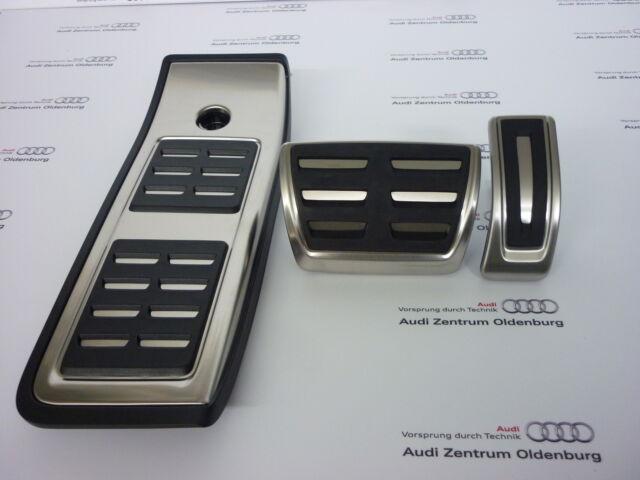 Original Audi Tapas Juego de Acero Inoxidable para Automático / S TRONIC, A4 8W