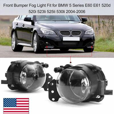 Pair LED Fog Light Lamp For BMW E60 E61 E63 E64 X3 E83 525i 530i 545i 645Ci 650