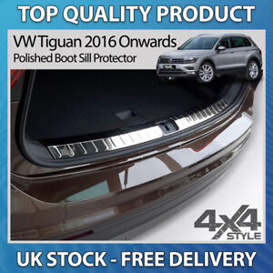 VW-VOLKSWAGEN-TIGUAN-2016-POLISHED-STAINLESS-STEEL-BOOT-SILL-PROTECTOR-GUARDS