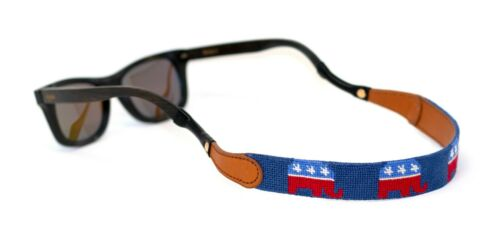 Republican Needlepoint Sunglass Strap Sunglass Retainer by Huck Venture USA