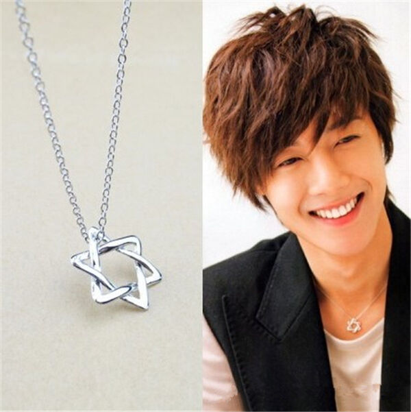 SS501 Kim Hyun Joong Six-pointed star kpop necklace New