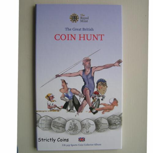 50p Sports Olympic Folder GREAT BRITISH COIN HUNT COLLECTOR ALBUM £2 £1 50p