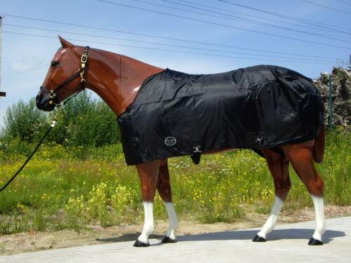 Été plafond vontopscore Noir 125,135,145,155cm Nylon summer sheet pour chevaux