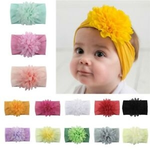 Cute Kids Girl Baby Headband Infant Newborn Flower Bow Hair Band ... 2ac4c8f5cff3