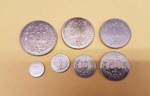 B-d-m Uruguay Set 1 5 10 50 100 200 500 Nuevos Pesos 1989 Sc- Aunc Ujyw9xky-07225933-448477507