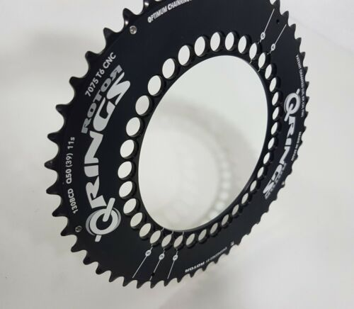 50T-56T Rotor QRings Aero BCD130x5 7075-T6 Aluminum Alloy Road Outer Chainring
