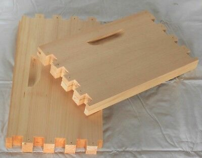 SHALLOW 8 Frame Unassembled Honey Super Langstroth Beehive Box COMMERCIAL Pine