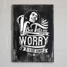 Vintage Cartello Di Legno BOBBY Shabby Chic Marley Marijuhana Bob Weed Smoke