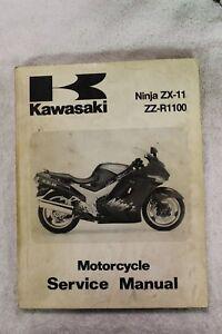 details about kawasaki oem service repair manual 1993 ninja zx-11 zz-r1100  p/n 99924-1159-01