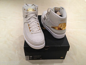 cea71d529112 2016 NIKE AIR JORDAN 2 RETRO Q54 QUAI 54 WHITE GOLD ALL SIZES UK 6 7 ...