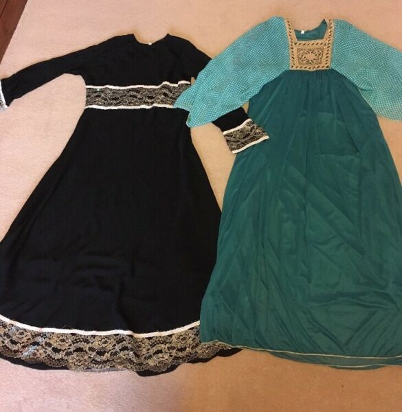 "2 Bn Niñas Abaya Jilbab Jalabiya Farasha Maxi Vestido 50"" Largo 10-11-12 Años-ver"