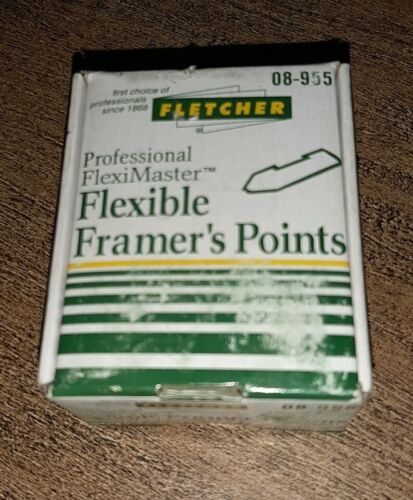Fletcher Flexible granjeros puntos 15mm Negro X 3700 08-955 Nuevo