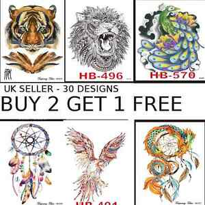 a4516c059 Image is loading TATTOO-STICKERS-WATERPROOF-TEMPORARY-TATTOOS-ARM-BACK-BODY-