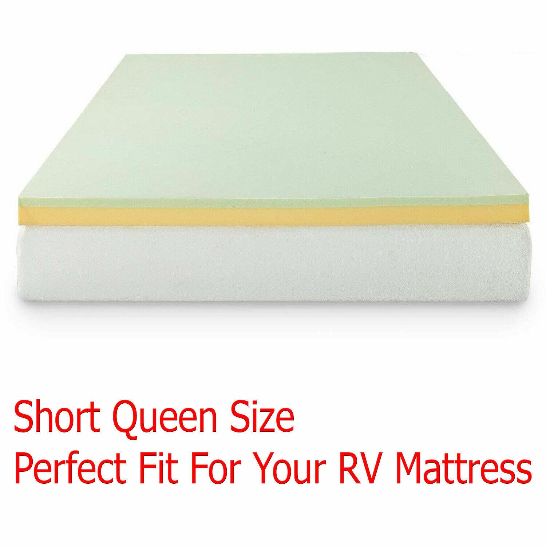 Memory Foam Mattress Topper Camping Pad Short Queen Size