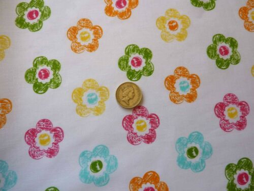 Enfants imprimé poids léger été Blanc Multicolore Fleurs Imprimer Tissu