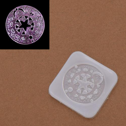 1pc Silicone Mould Anime Card Captor Sakura Magic Circle Template DIY Craft