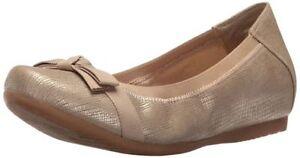 mismatch-size-6-5-6-Bare-Traps-Maiya-Gold-Ballet-Flats-Slip-Ons-Shoes